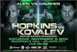 Бърнард Хопкинс срещу Сергей Ковальов – 08/11/2014 – Bernard Hopkins vs Sergey Kovalev
