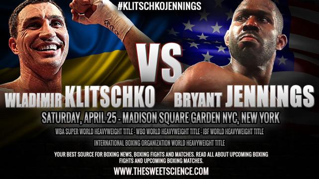 Владимир Кличко срещу Брайънт Дженингс – Wladimir Klitschko vs Bryant Jennings
