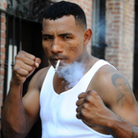 Ricardo Mayorga prepares for his bout with Shane Mosley. The workout took place on Sept 23, 2008 at the Classic Boxing Gym in Pasadena, California. Bout will take place on September 27, 2008 at the Home Depot Center in Carson California. Photos By Gene Blevins