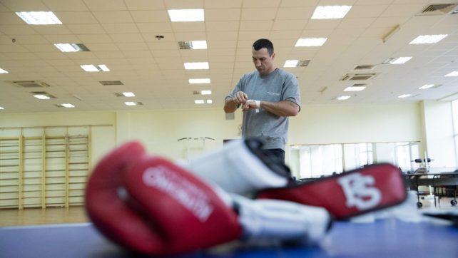 СНИМКА: Владимир Кличко в тренировъчния лагер